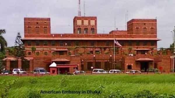 Map of US embassy Address in dhaka